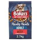 Bakers Complete Meaty Meals Beef 2.7Kg