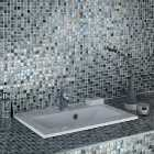 Wickes Shimmer Hammered Grey Glass Mosaic - 300 x 300mm