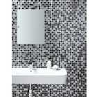 Wickes Midnight Glass & Stone Mosaic - 300 x 300mm